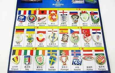Complete Set 24 PINS teams EURO2016 qualifying europeanfootballcup