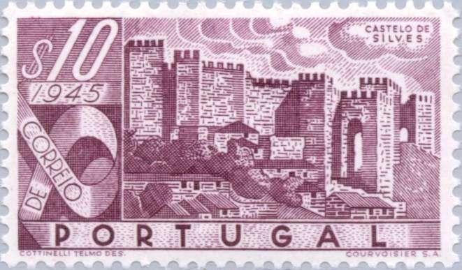 Sello: Castelo de Silves (Portugal) (Portuguese Castles) Mi:PT 693,Yt:PT 675,Afi:PT 664