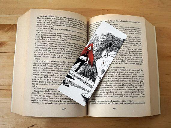 Illustrated #BOOKMARK: Little Red Riding Hood and the black woolf #italiasmartteam