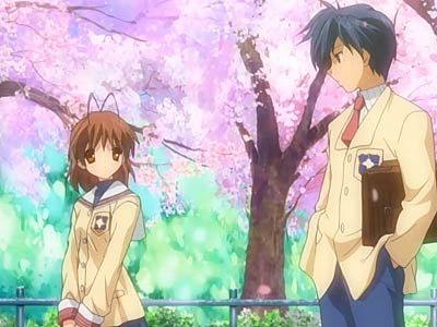 Clannad....not going to lie it made me cry once or twice....<< ONCE OR TWICE?!? I WAS CRYING EVERY EPISODE