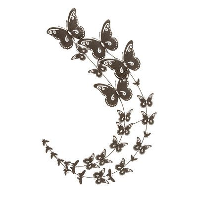 metal utterfly wall decoration   Woodland Imports Metal Butterfly Wall Decor