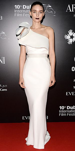 Rooney Mara in Lanvin (Resort 2014) at the Oxfam Charity Gala in Dubai.