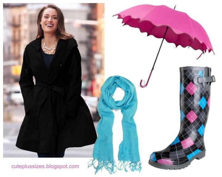 rainy day style! - cute plus size raincoat & accessories