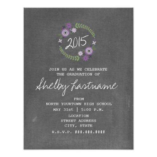 Best Purple Graduation Invitations Images On