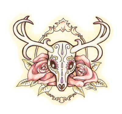 1000 Images About Deer Skull Tattoo On Pinterest The