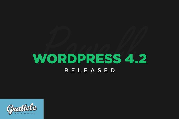 #WordPress 4.2 new features