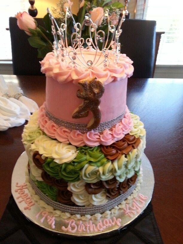 Princess and camo cake