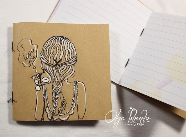Crafty Olga: Набор крафт-блокнотов/A set of craft notepads