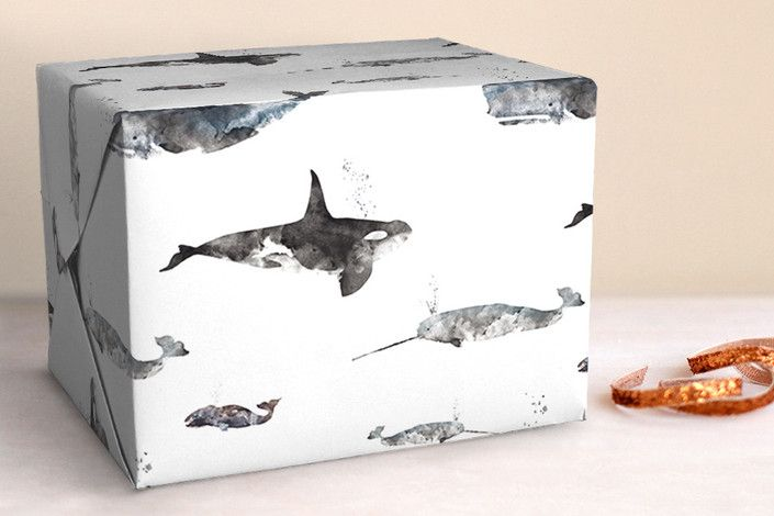 A Whale of a Time Wrapping Paper by  Shirley Lin Schneider, Minted