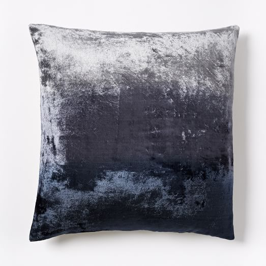 Ombre Velvet Pillow Cover - Nightshade | west elm