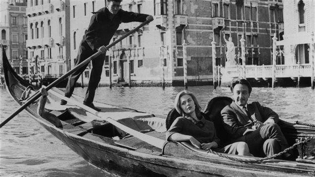 Romain Gary & Jean Seberg in Venice, the good years.  Photo via http://ici.radio-canada.ca
