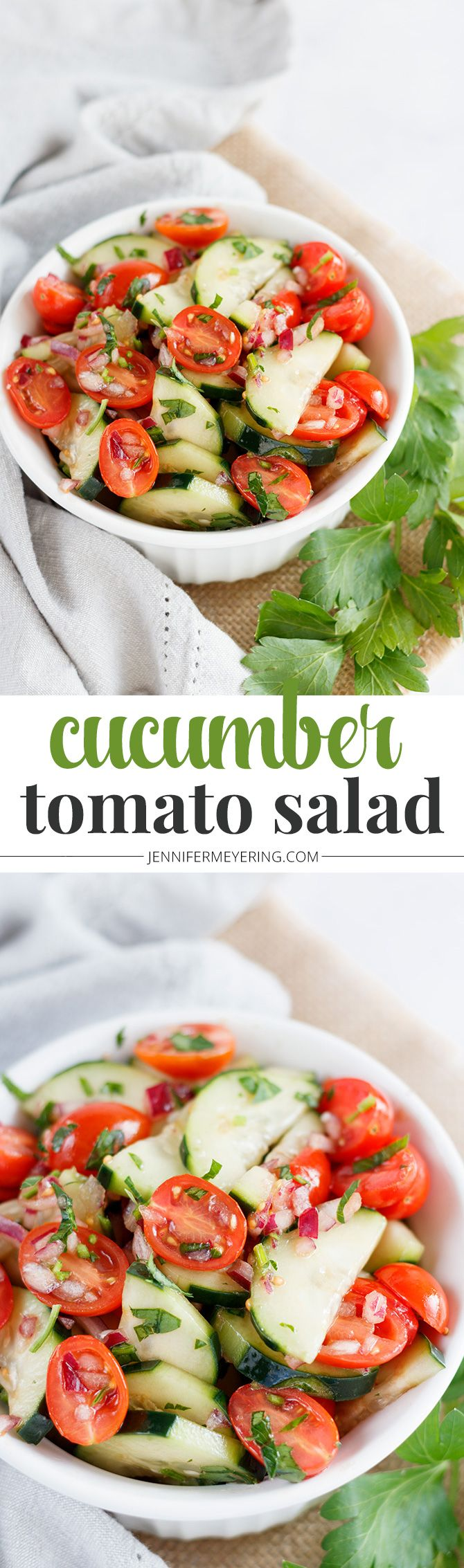 Cucumber Tomato Salad - JenniferMeyering.com