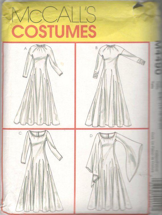 McCalls 4490 Ren Faire Costume Pattern Misses Renaissance Dress ...