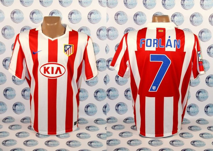 ATLETICO MADRID 2010 2011 #7 FORLAN FOOTBALL SOCCER SHIRT JERSEY CAMISETA NIKE  #Nike #AtleticoMadrid