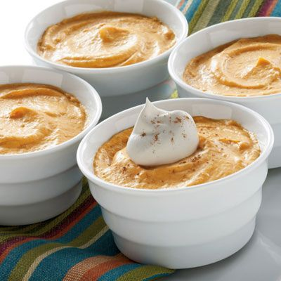 Love the silky taste of mousse for dessert but not the fat and calories? Try this easy 5-minute, lightened up Pumpkin Mousse recipe and enjoy the richness of mousse with the added deliciousness of pumpkin.