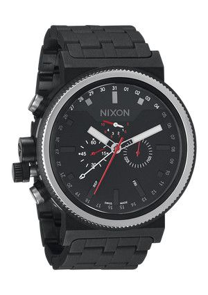 The Trader in All Black: All Black, Nixon Watches, Nixon Trader, Men'S Watches, Styles, Men'S Fashion, Bombproof Watches, Trader Watches, Black Men'S