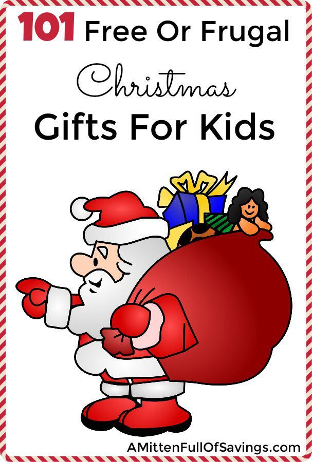 101 Free or Frugal Christmas Gifts For Kids: As a parent you want to give your kids the best presents, but you can't always afford that. These 100 Free Or Frugal Christmas Gifts For Kids are going to easily fit into your budget. Some items are free when you make them yourself. Other items on the list are frugal and under the $5-$10 range out of pocket costs. Most items are going to be less than $5. This is a great choice for adding to stockings, or as a treat with your Advent calendar.