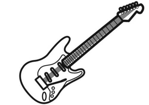 Malvorlage Gitarre kostenlose malvorlage musik e gitarre
