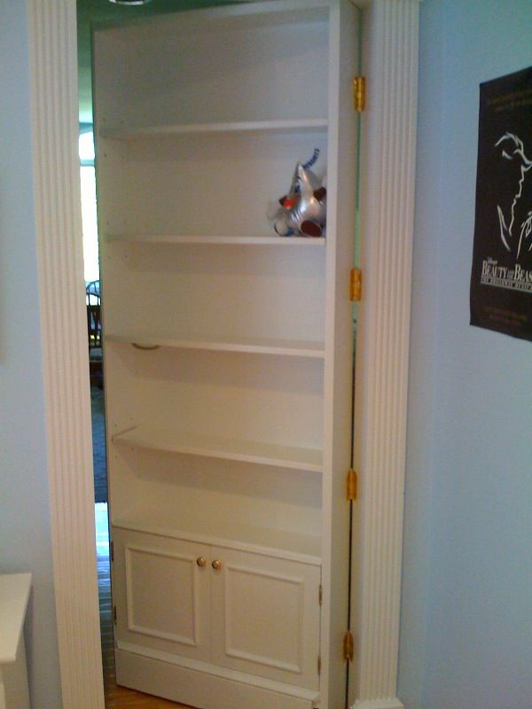 hidden doors - to hide the doors to kids rooms off of the hallway and still have book cases!