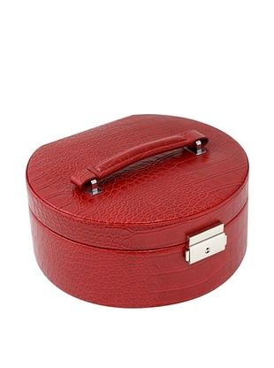 57% OFF Bey-Berk Stamped Round Jewelry Box, Red