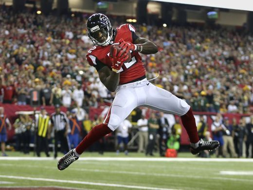 Packers vs. Falcons:    October 30, 2016  -  33-32, Falcons  -      Atlanta Falcons wide receiver Mohamed Sanu (12) catches a touchdown pass that puts them ahead during the Green Bay Packers 33-32 loss to the Atlanta Falcons, Sunday, October 30, 2016 at the Georgia Dome in Atlanta Georgia.  Rick Wood /USA TODAY NETWORK-Wisconsin