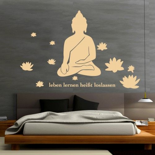 Image detail for -Wandtattoo Lotus Buddha in beige