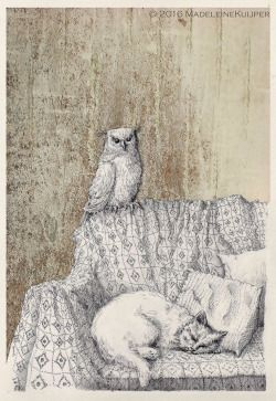 """forevernoon: """" The Owl & the Pussycat (inspired by poem by Edward Lear and music by Igor Strawinsky) """""""