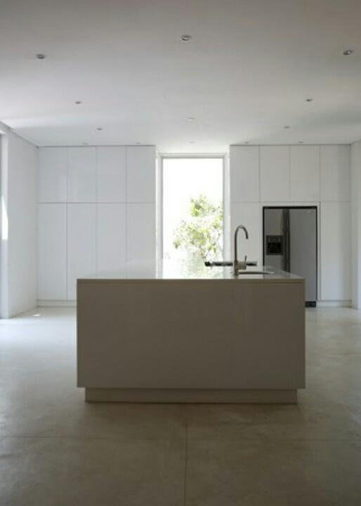 White Neutral Kitchen Silvio Rech And Lesley Carstens INK Design Lab Minimalist In Capetown South Africa Remodeslista