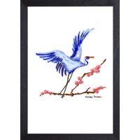 Afbeelding bij: Catchii Crane Blossom Poster - 30 x 40 cm