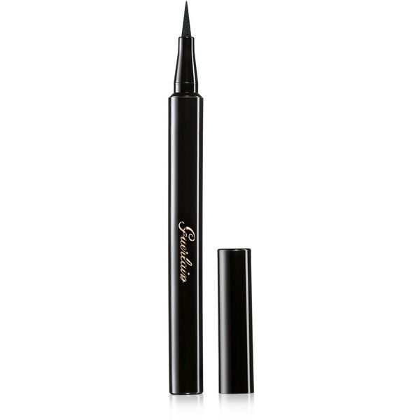 Guerlain Felt Eyeliner L'Art du Trait, Fall Color Collection found on Polyvore featuring beauty products, makeup, eye makeup, eyeliner, ultra black, guerlain and guerlain eyeliner