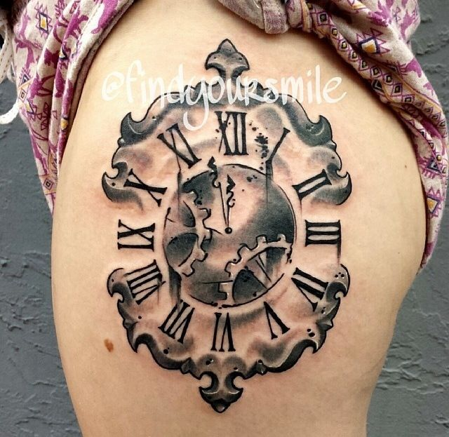 Old Clock Tattoo - Time Tattoo