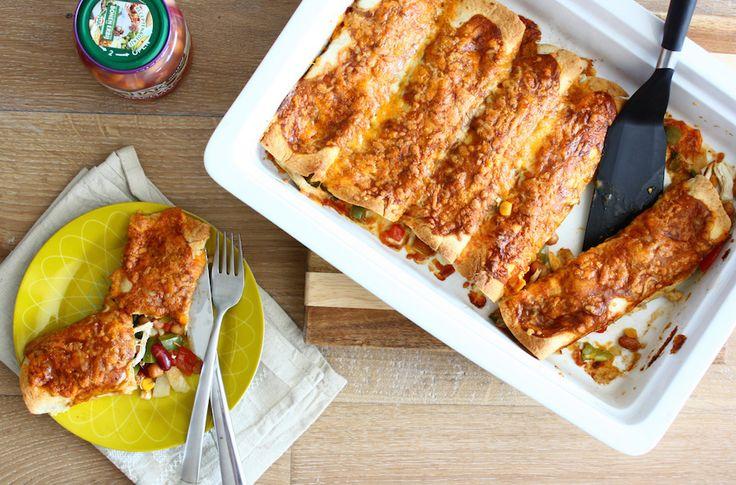 BonenBloggerTag: kip enchiladas met 'bonen erbij'
