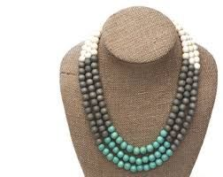 grey & turquoise necklace