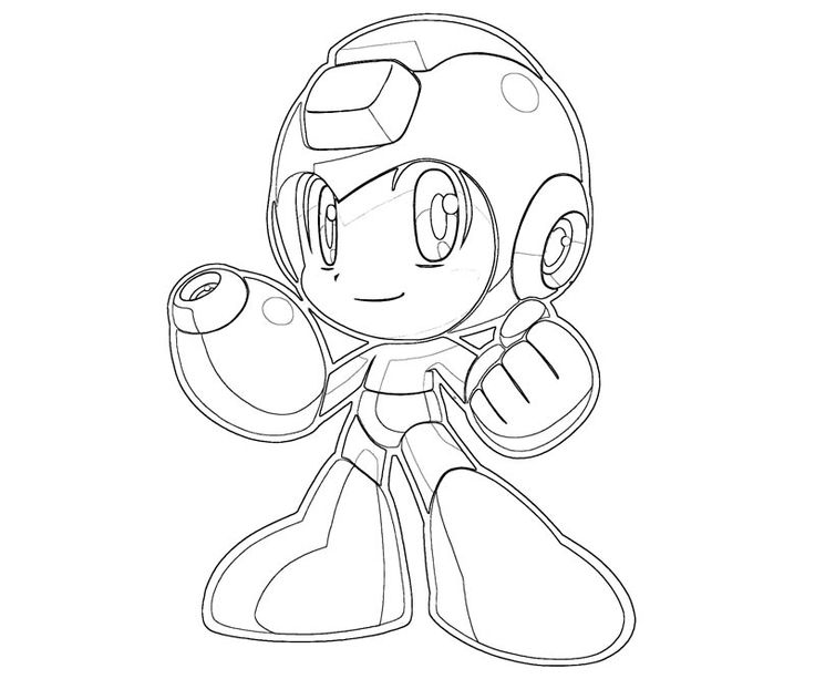 mega man coloring pages free - photo#4