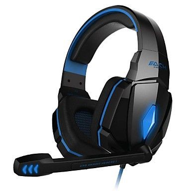 GE4000 PC Gaming Headset 3.5mm Over Ear Blue Edition. Only at www.pandadeals.co.uk