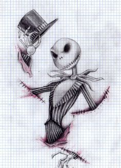 jack skellington tattoo. this would be awesome as a half sleeve with sally and zero mixed in some how :D