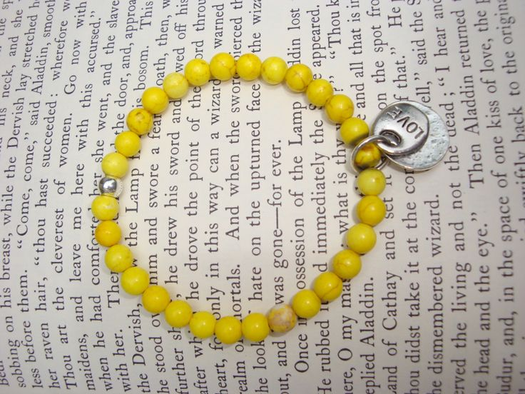 Canary yellow howlite 'Inspiration' bracelet by Tinky. https://www.facebook.com/TinkySonntag