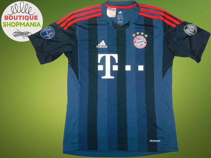 BAYERN MUNICH Third 2013/14 Patches Champions League (Boys M) Football Shirt  #Adidas #BayernMunich