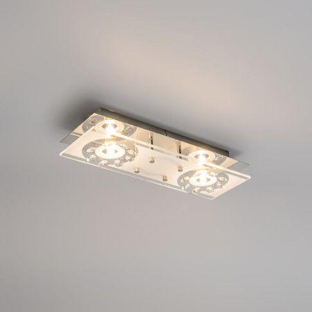 Deckenleuchte Bright 2 Chrom Deckenlampe Lampe Innenbeleuchtung Wohnzimmerlampe