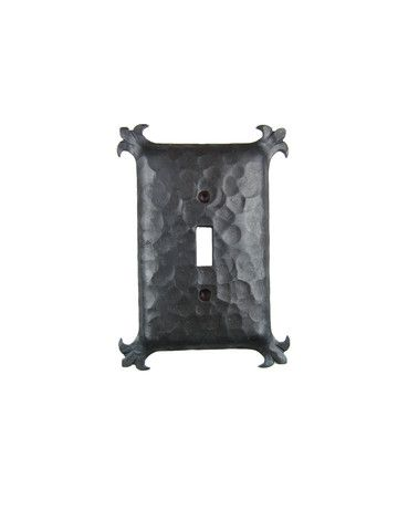 Rustic Spanish Revival Hammered Iron Switch Plate Cover Single Toggle – Bushere & Son Iron Studio Inc.