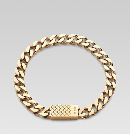Gucci gold Bracelet for men | Essentials (men's accessories) http://www.pinterest.com/davidos193/