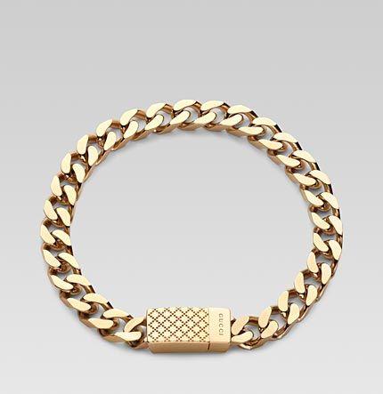 A definite WishList - gorgeous! Gucci gold Bracelet for men | Essentials (men's accessories) http://www.pinterest.com/davidos193/