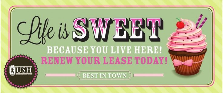 """Resident Retention is just as important, if not more, to a property's success as marketing and leasing! This week's Resident Event is a fun spin on lease renewals!  Create a fun little flyer to include with your renewal offers which has the title, """"Don't Dessert Us"""" which is a fun play on words between dessert and desert. Include images such as an ice cream sundae, cookies, or pies.        The event itself will be a renewal party with dessert served! You can keep your office open"""
