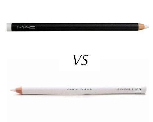 Dupe!  MAC Fascinating Eye Kohl vs Rimmel Soft Kohl Kajal Pencil in Pure White  $16 vs $4  White eyeliner is great to use on the lower water line to make your eyes look bigger and more awake :)