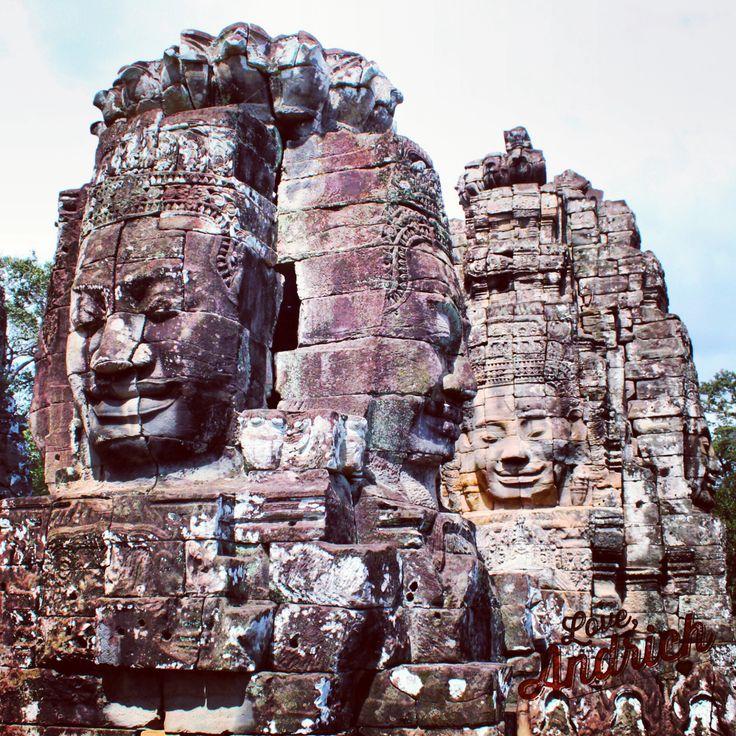 Bayon Heads in Siem Reap ~ #Travel