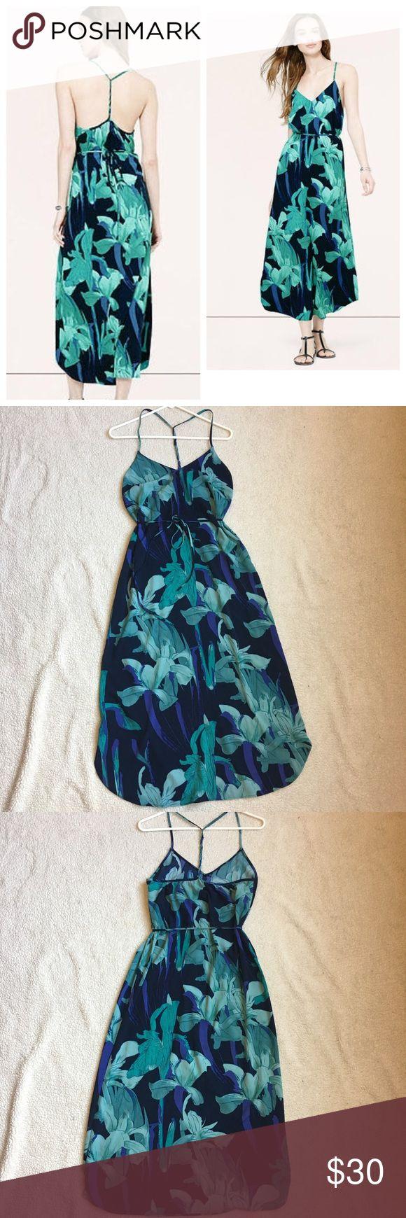 Ann Taylor Loft Floral Maxi Dress Anne Taylor Loft Floral Maxi Dress. Size Small. Spaghetti strap with a braided detail T Strap. Ann Taylor Dresses Maxi