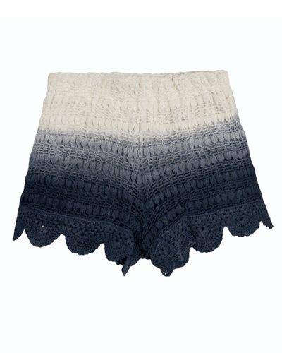 Blaue Shorts gehäkelt Zara