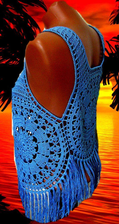 Crochet top crochet beach top crochet fashion crochet | Etsy