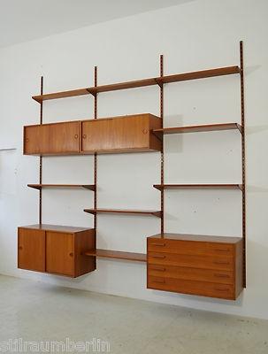 60er KAI KRISTIANSEN Regal TEAK Regalsystem DANISH DESIGN 60s shelf unit