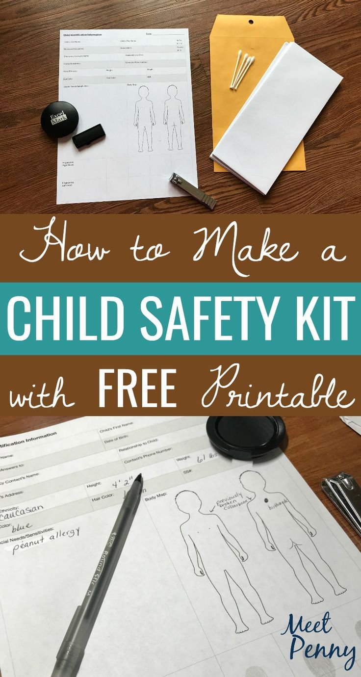 If Your Child Slipped Away And Couldn T Be Found Would You Have The Identification Information Ready To Hand To Authorities Kids Safe Kids Saftey Safety Kit